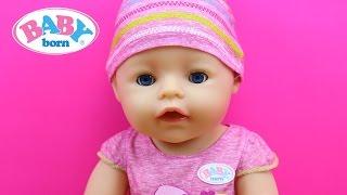 Muñeca Bebé Interactiva Baby Born BANDAI en español | La bebé come papilla llora y hace pipí y popó
