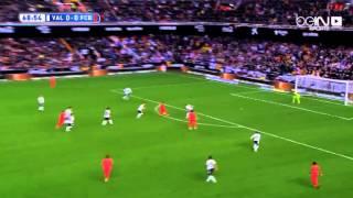 ملخص مباراة برشلونه و فالنسيا ، و هدف سواريز الصحيح الذي الغي بداعي التسلل و هدف بوسكيتس القاتل