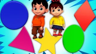 Shapes Songs For Toddlers   Junior Squad Cartoons For Kids by Kids Tv