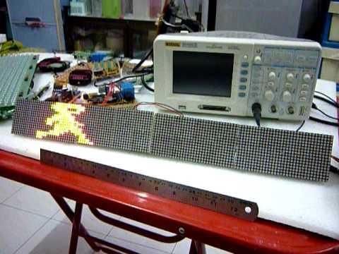 3Colors 16 x 128 LED Dotmatrix Display (Compacted size)