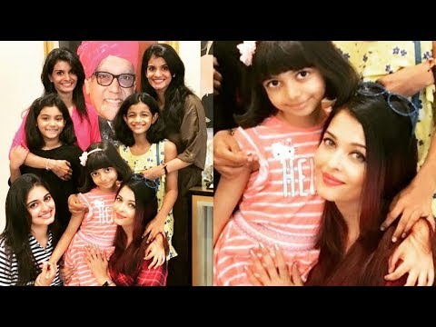 Aishwarya Rai Bachchan parties with her real sisters and daughter Aaradhya Bachchan