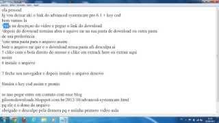 advanced systemcare 6.1 pro + serial key
