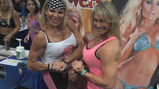 Lauren Powers & Lori Fetrick Hanging at the LA Fit Expo 2017