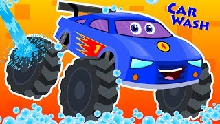 Car Wash Cartoons | Street Vehicle Videos For Toddlers | Kids Videos For Babies By Kids Channel