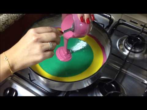 Bolo colorido rainbow cake por Carla Marins