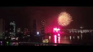 Flycam Firework Viet Nam & Austria 30 April [DIFF 2017]