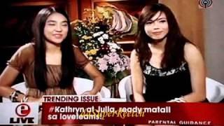 E-Live Kathryn Bernardo & Julia Montes [1-1-11]