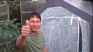 Easy to Build Greenhouse with NO Tools keeps your Garden Growing in the Winter
