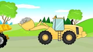 Excavator- Truck- Bulldozer | Construction Vehicles For Kids | Pojazdy Budowlane Dla Dzieci