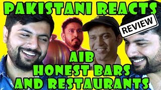 Pakistani Reacts to AIB HONEST RESTAURANTS AND BARS PART 2 and 3