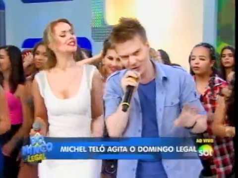 Domingo Legal Michel Teló canta sucesso no Domingo Legal
