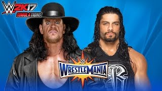 WWE 2K17 - WRESTLEMANIA 33: Undertaker vs Roman Reigns