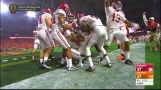 Kenyan Drake returns kickoff 95 yards for a touchdown - Alabama vs Clemson