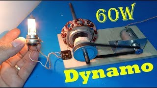 60w generator , how to make 12v / 5A generator from 6V motor