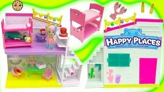 Petkins Shopkins Happy Places Home Party Studio + Surprise Blind Bags with Rainbow Kate + Queen Elsa