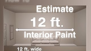 Estimating the Amount Of Paint Needed For Interior Surfaces