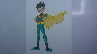 Time Lapse Drawing - Robin from 'Teen Titans'