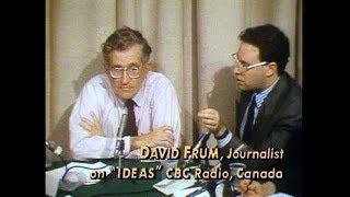 Neocon David Frum Schooled By Noam Chomsky