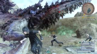 Final Fantasy XV - Bandersnatch Boss Fight Gameplay [1080p HD] PS4 PRO