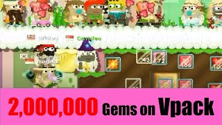 Growtopia #88   2,000,000 Gems on Valentine Pack 2016