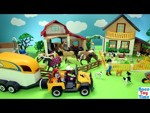 Xxx Mp4 Playmobil Horse Stable And Farm Animals Barn Fun Toys For Kids 3gp Sex