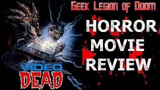 THE VIDEO DEAD ( 1987 Roxanna Augesen ) Zombie Horror Movie Review