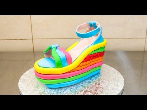 High Heel Wedge Shoe Cake How To by CakesStepbyStep