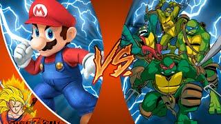 MARIO vs TEENAGE MUTANT NINJA TURTLES! Cartoon Fight Club Episode 78 REACTION!!!