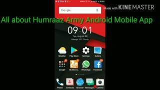 All about HUMRAAZ Army Android Mobile App.