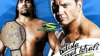 Batista vs The Great Khali wwe Summerslam 2007 wwe world heavyweight championship