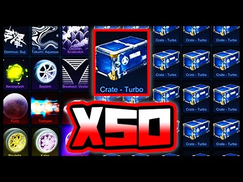 50 NEW TURBO CRATE OPENING IN ROCKET LEAGUE