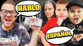 Last To Speak SPANISH Wins $10,000 - Challenge