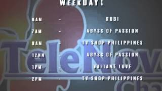 Weekeday Schedule for the Month of September - TeleNovela Channel