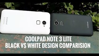 Hindi - Coolpad Note 3 Lite (Black vs White Design Comparison) Which one to buy?