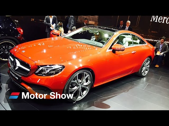 2017 Mercedes E Class Coupe - First Look at Detroit Motor Show
