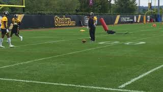 Steelers safeties practice for Kansas City Chiefs
