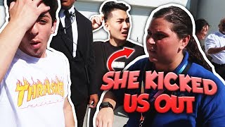 WE GOT KICKED OUT FROM VIDCON... *not clickbait*