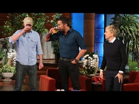 Luke Bryan Knocks a Few Back with Andy