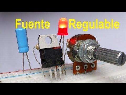 ✅ Fuente Regulada de voltaje variable LM317 Variar velocidad Motor