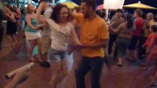 Salsa social dance at The Pier - Erika Caliente & Jorge Alberto