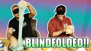 Making Slime Blindfolded Challenge With iBallisticSquid