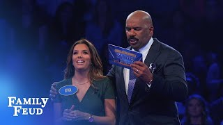Eva Longoria's INCREDIBLE Fast Money! | Celebrity Family Feud