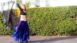 Beautiful young bellydancer Sofia. Sweet 18, cute dance training