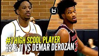 #1 High School Player vs NBA All-Star DeMar DeRozan!! Marvin Bagley Drops 32 & 11