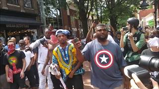 #BLM Talks MAD SMACK To Riot Cops @ #Charlottesville #UniteTheRight