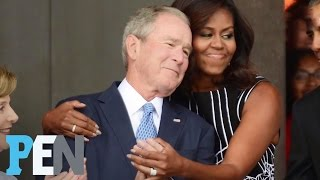 George W. Bush Opens Up About His Unlikely Friendship With Michelle Obama   PEN   TIME