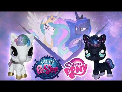 Custom LPS Princess Celestia & Luna    My Little Pony + Littlest Pet Shop Mashup