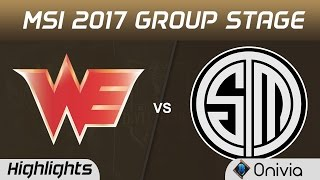 WE vs TSM Highlights MSI 2017 Group Team WE vs Team Solo Mid by Onivia