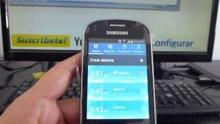 Como Desactivar Alarmas samsung galaxy Ace 2 fame gt S6810 español Video Full HD