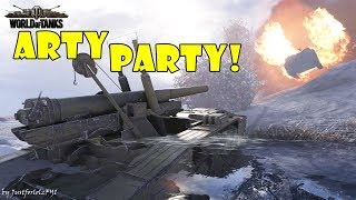 World of Tanks - Funny Moments   ARTY PARTY! #35